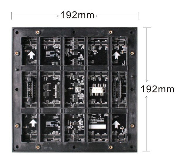 Outdoor P6 full color LED display unit board back
